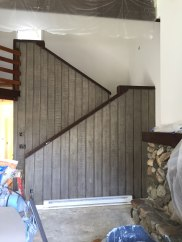 New stain on the stair panels